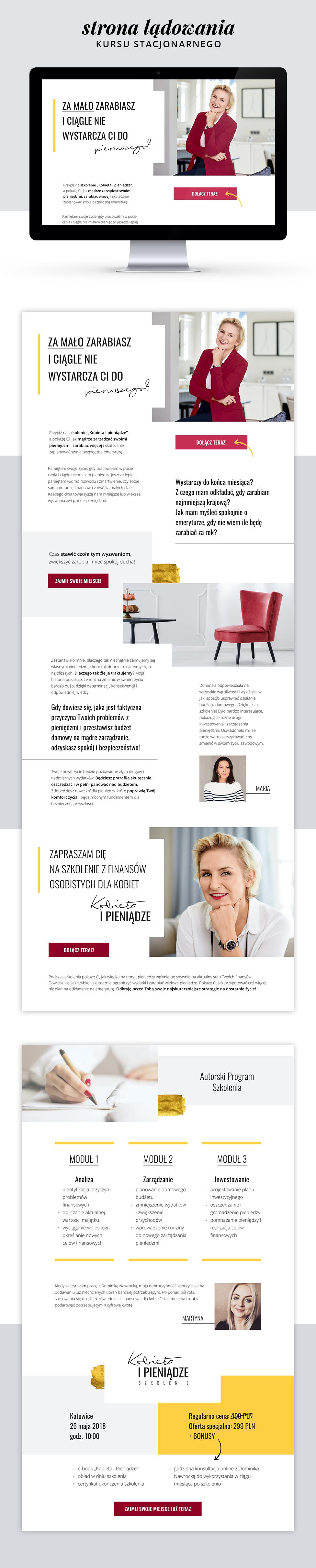Kobieta i pieniądze - webdesign - galeria