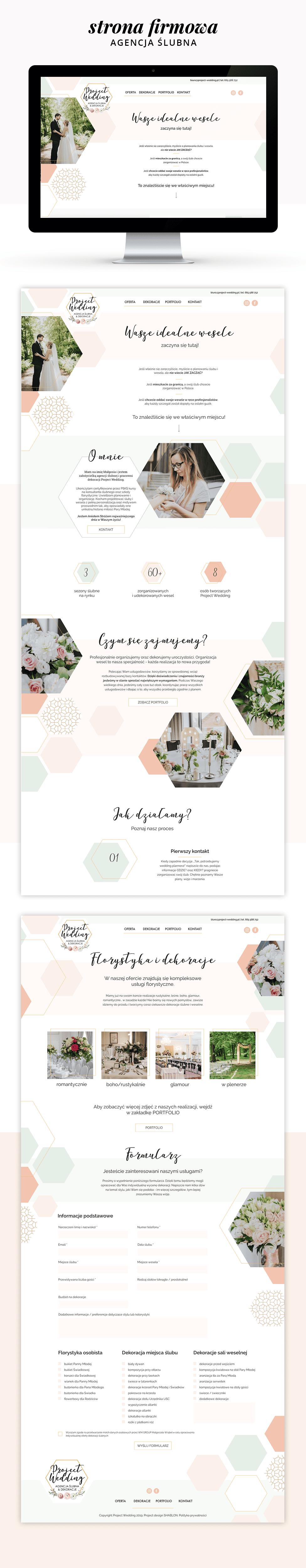 Project wedding - strona firmowa - agencja slubna